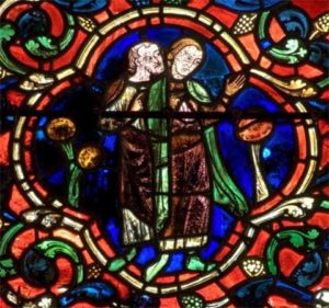 Chartres Cathedral depiction of St. Martin
