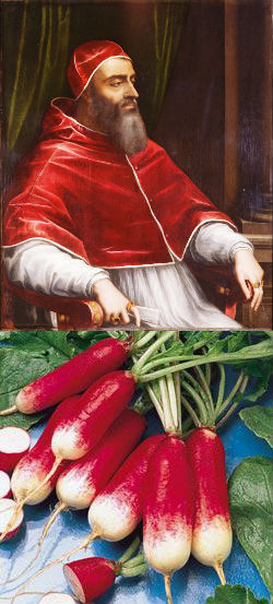 Was Pope Clement VII a member of a secret radish cult?