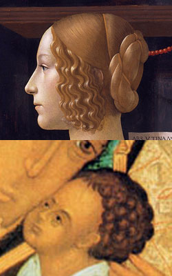 Comparing the curls of Jesus' hair with those of Giovanna degli Albizzi